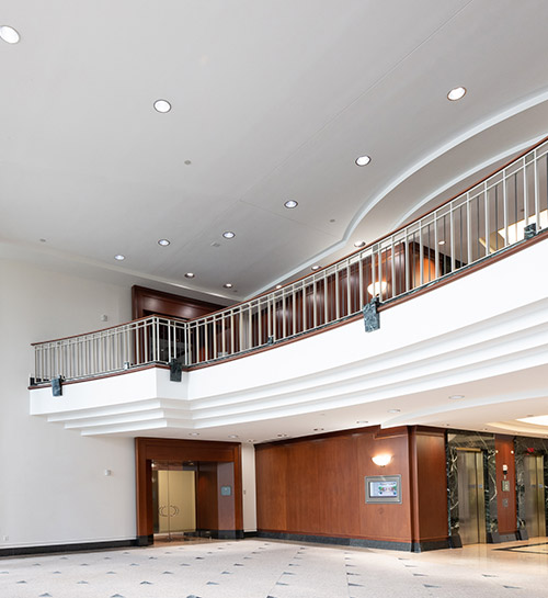 Interior lobby of W5201 building
